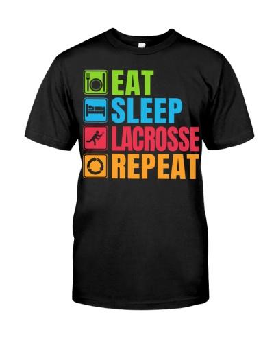 Eat Sleep Lacrosse Repeat