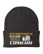 Photographer Old Man With A Camera Knit Beanie thumbnail