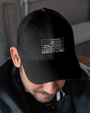 Wrestling America Flag Embroidered Hat garment-embroidery-hat-lifestyle-02