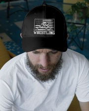 Wrestling America Flag Embroidered Hat garment-embroidery-hat-lifestyle-06