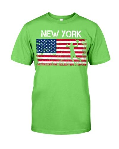 New York State Basketball American Flag
