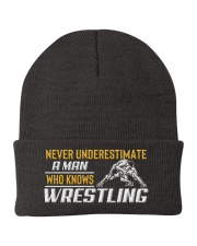 Man Knows Wrestling Knit Beanie thumbnail