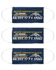 Man Knows Wrestling Cloth Face Mask - 3 Pack thumbnail