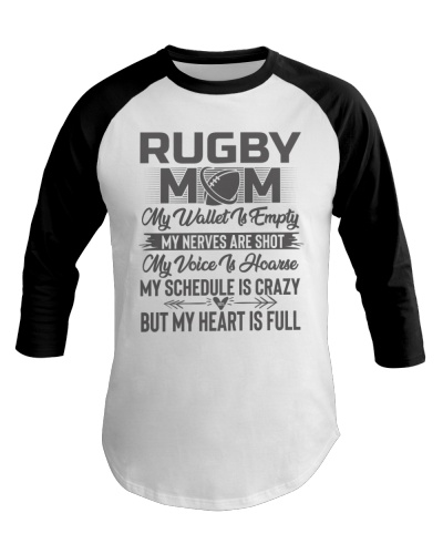 Rugby Mom My Heart Is Full Tee