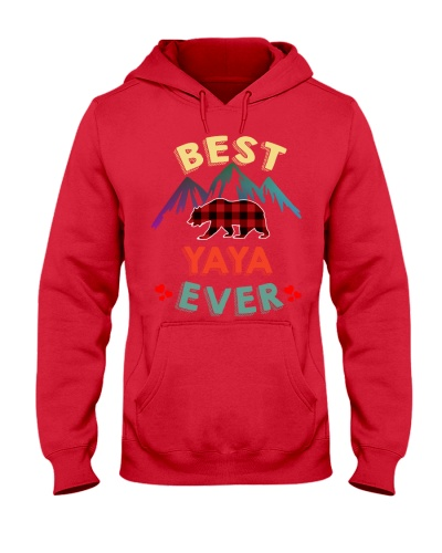 Best Yaya Bear Ever Xmas Red Plaid
