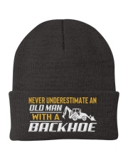 Old Man With A Backhoe Knit Beanie thumbnail