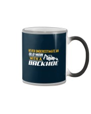 Old Man With A Backhoe Color Changing Mug thumbnail