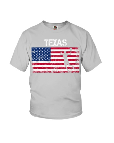 Texas State Basketball American Flag