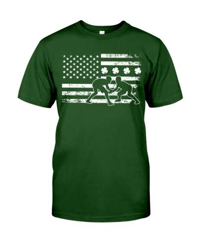 Irish American Flag Wrestling White