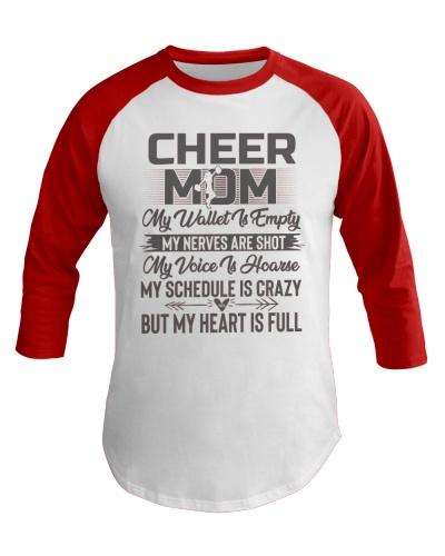 Cheer Mom My Heart Is Full Tee