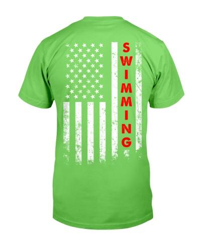 Swimming American Flag Backside