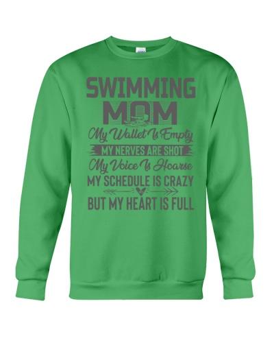 Swimming Mom My Heart Is Full Tee