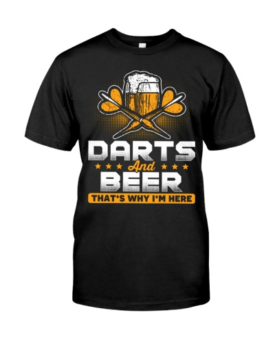 Dart Player And Beer