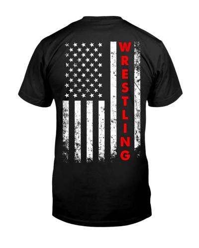 Wrestling American Flag Backside