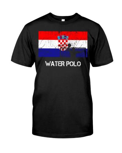 Croatia Flag Water Polo