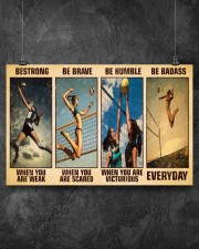 Volleyball Be Strong 17x11 Poster aos-poster-landscape-17x11-lifestyle-12