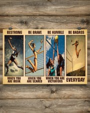 Volleyball Be Strong 17x11 Poster aos-poster-landscape-17x11-lifestyle-14
