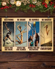 Volleyball Be Strong 17x11 Poster aos-poster-landscape-17x11-lifestyle-27