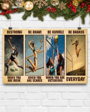 Volleyball Be Strong 17x11 Poster aos-poster-landscape-17x11-lifestyle-28