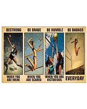 Volleyball Be Strong 17x11 Poster front