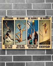 Volleyball Be Strong 17x11 Poster poster-landscape-17x11-lifestyle-18