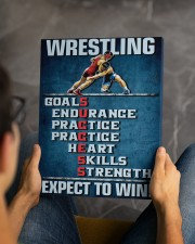Wrestling Success Canvas 11x14 Gallery Wrapped Canvas Prints aos-canvas-pgw-11x14-lifestyle-front-45