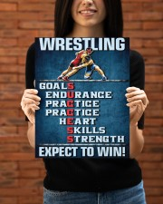 Wrestling Success Canvas 11x14 Gallery Wrapped Canvas Prints aos-canvas-pgw-11x14-lifestyle-front-53