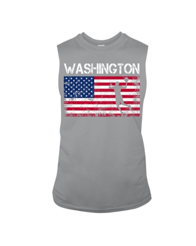 Washington State Basketball American Flag