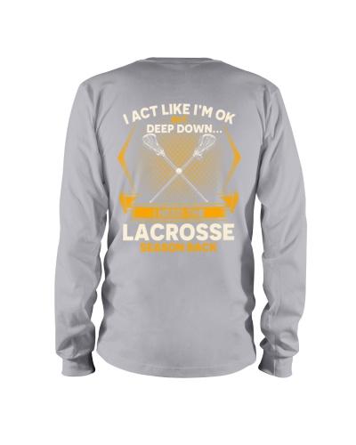 Lacrosse Season Back