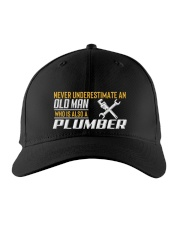 Old Man Who Also Plumber Embroidered Hat front