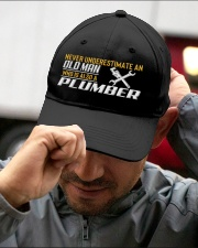 Old Man Who Also Plumber Embroidered Hat garment-embroidery-hat-lifestyle-01
