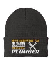 Old Man Who Also Plumber Knit Beanie thumbnail