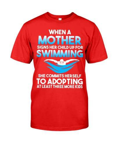 Swimming Mom When A Mother