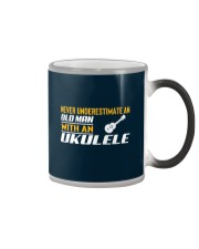 Old Man With An Ukulele Color Changing Mug thumbnail