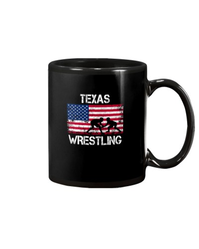 Texas Wrestling American Flag