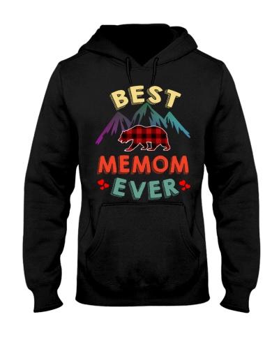 Best Memom Bear Ever Xmas Red Plaid