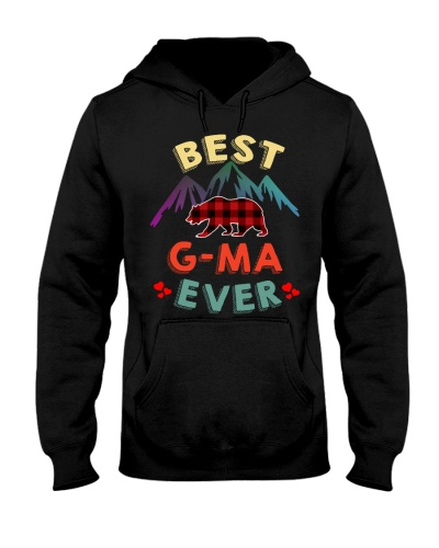 Best G-ma Bear Ever Xmas Red Plaid