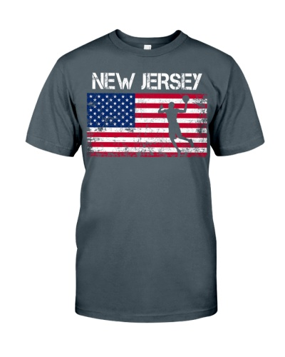 New Jersey State Basketball American Flag