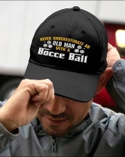 Old Man With A Bocce Ball Embroidered Hat garment-embroidery-hat-lifestyle-01