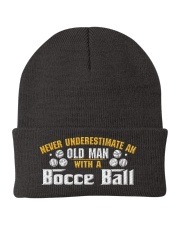 Old Man With A Bocce Ball Knit Beanie thumbnail