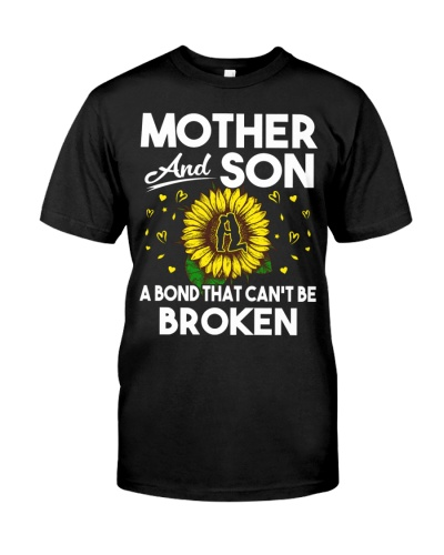 Mother And Son Can't Be Broken Couple Sunflower