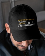 Old Man With A Fishing Rod Embroidered Hat garment-embroidery-hat-lifestyle-02