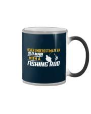 Old Man With A Fishing Rod Color Changing Mug thumbnail