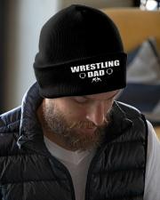 Wrestling Dad Knit Beanie garment-embroidery-beanie-lifestyle-06