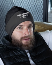 Wrestling Dad Knit Beanie garment-embroidery-beanie-lifestyle-10