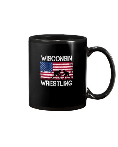 Wisconsin Wrestling American Flag