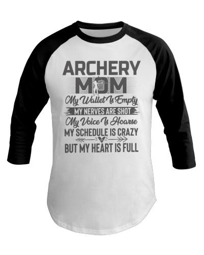 Archery Mom My Heart Is Full Tee