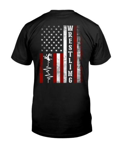 Wrestling Heartbeat USA Flag