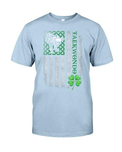 Taekwondo Irish American Flag