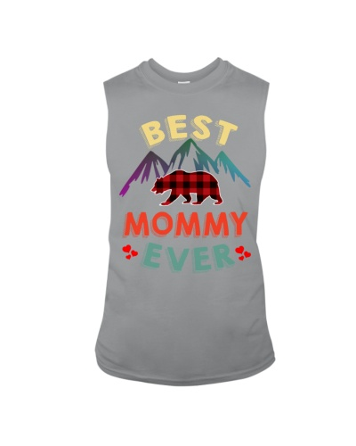 Best Mommy Bear Ever Xmas Red Plaid